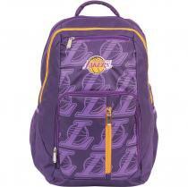 Mochila Escolar Nba La Lakers Grande 3 Bolsos Dermiwil -