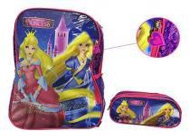Mochila Escolar Princess Com Estojo Infantil para Crianca (EI31004PR / IS31001PR) - Luxcel