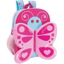 Mochila Escolar Zoo Butterfly Grande 2 Bolsos Yangzi -