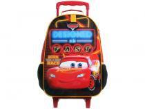 Mochila Infantil Escolar Masculina Carros - de Rodinha Tam. G Dermiwil Easy Vermelha