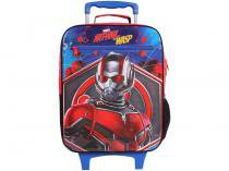 Mochila Infantil Escolar Masculina de Rodinha - Tam. G DMW Plus Ant Man and the Wasp Vermelha