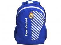 Mochila Juvenil Escolar Masculina Futebol Tam. G - DMW Sports Real Madrid FC Azul