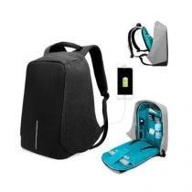 7135bc398 Mochila para notebook anti furto roubo preta bolsa com entrada usb  impermeavel - Faça resolva