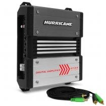 Módulo Amplificador Hurricane H 1.8K Digital 1800W RMS 1 Canal 2 Ohms Stereo RCA + Cabo RCA 4mm 5m - Prime