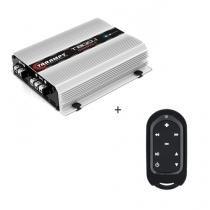 Módulo Amplificador T 800.1 Compact 2OHMS 800W digital + Controle Longa Distância Preto - TLC 3000 C - Taramps
