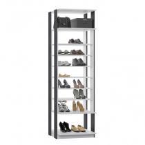 Módulo Closet com 7 Prateleiras Reguláveis Clothes Be Mobiliário Branco/Espresso -