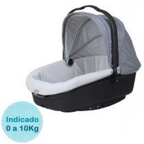 Moisés para Bebê Burigotto Neonato - Cinza e Preto -