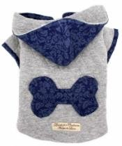 Moleton com Capuz Osso Azul - Bonito pra Cachorro -