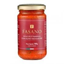 Molho de Tomate Italiano Puttanesca con Olive Taggiasche Fasano 180g -