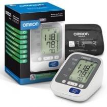 Monitor de Pressão Arterial Digital de Braço Omron HEM-7130 Automático Cinza e Preto -