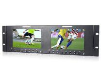 """Monitor Duplo de 7"""" HD com Montagem de Rack para Broadcast - Worldview"""