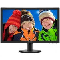 Monitor LCD 23,6 Widescreen Philips 243V5QHABA Full HD Preto - HDMI, SmartControl Lite -