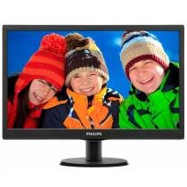 "Monitor LED 18,5"" Philips 193V5LSB2 Widescreen, VGA - Preto -"