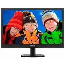 "Monitor LED 23,6"" Philips 243V5QHABA, Full HD, Widescreen VGA HDMI DVI - Preto -"