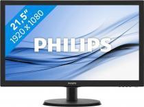 Monitor Philips 21.5pol LED 1920 X 1080 Full Hd Widescreen Hdmi Vga Vesa -
