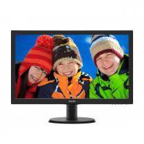 "Monitor Widescreen com Entrada HDMI LED 23.6"" Philips Full HD VGA/DVI/HDMI, SmartControl Lite - 243V5QHABA - Philips"