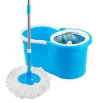 Mop Esfregao Limpeza Pratica c/ Cesto Inox 2 Estopas Uitech -