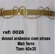 Mosquiteiro Com Dossel Arabesco Com Strass Ref  26 - Home fernandes 173567f9dac
