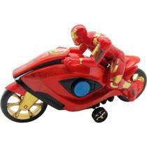 Moto de Fricção Homem de Ferro Avengers - Toyng 26905 com Boneco