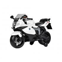Moto Elétrica BMW K1300 Branca 6V Bandeirante - Bandeirante