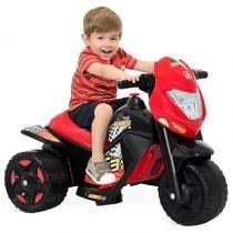 Moto Elétrica Cross EL 6V Vermelha/Preta - Bandeirante - 259 - Brinquedos bandeirante