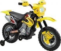 Moto elétrica infantil amarelo bel brink - 0 -