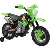 Moto Elétrica Infantil com Farol e Buzina Preta/Verde 926000 - Belfix - Belfix
