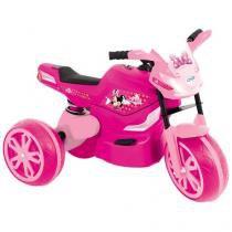 Moto Elétrica Infantil Disney Minnie  - com Sistema de Amortecedor - Xalingo