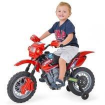 Moto Elétrica Infantil Motocross Vermelha 244 - Homeplay - Homeplay