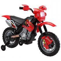 Moto Elétrica Infantil Motocross Vermelha 6V Bivolt Bel Brink -