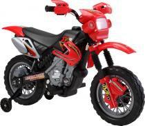 Moto elétrica infantil motocross vermelha - Bel Brink -