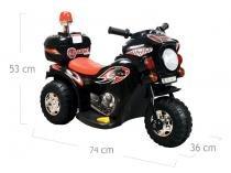 Moto Elétrica Infantil Triciclo Elétrico BZ Cycle Preto com luz de farol e sirene Barzi Motors -