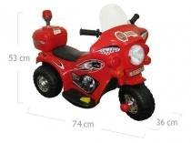 Moto Elétrica Infantil Triciclo Elétrico BZ Cycle Vermelho com luz de farol e sirene Barzi Motors -