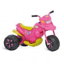 Moto Elétrica Infantil XT3 Fashion Rosa/Amarelo 2701 - Bandeirante - Bandeirante
