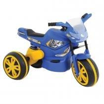 Moto Elétrica Infantil XTurbo Azul/Amarela 04507 - Xalingo - Xalingo