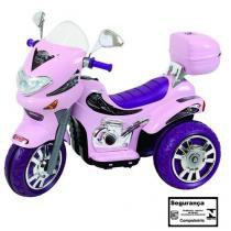 Moto elétrica sprint turbo rosa 12v - biemme -