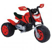Moto Infantil Elétrica Elite 6V Bivolt Preto/Vermelho 04510 - Xalingo - Xalingo