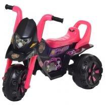 Moto Infantil Elétrica Fox G-Force Teen Monstros Preta/Rosa 174 - Biemme - Biemme