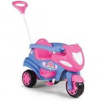 Moto Infantil Max 2 em 1 com Buzina Rosa 947 - Calesita - Calesita