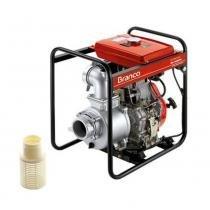 Motobomba autoescorvante à Diesel 10 cv 30 MCA partida elétrica - BD-700CFE - Branco - Branco