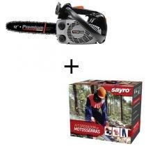 Motosserra a Gasolina Premium CS3600 35,8cc + Kit Operador de Motosserras M (42 à 44) - Kawashima