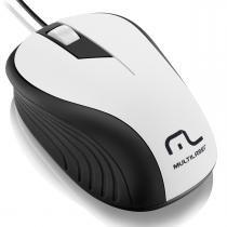 Mouse Emborrachado com Fio USB Branco/Preto MO224 - Multilaser - Multilaser