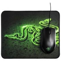 Mouse Gamer 1800dpi Razer Goliathus Small Speed - & Abyssus Green com Mousepad