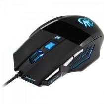 Mouse gamer black hawk om-703 preto/azul fortrek -