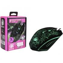 Mouse Gamer Finger Tip Grip Nemesis 6 Botões Usb Led 2400dpi - Nemesis
