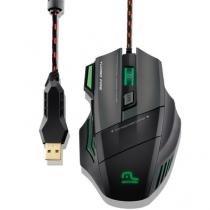 Mouse Gamer Multilaser Profissional Warrior 7 Botões 3200 DPI Preto USB + MousePAD - MO207 -