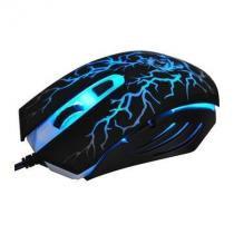 Mouse Gamer OEX óptico Action USB 6 Botões MS-300 Preto -
