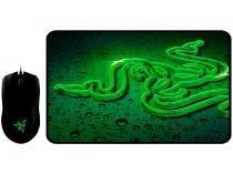 Mouse Gamer Óptico 2000dpi Razer - Abyssus com Mousepad Goliathus Small Terra