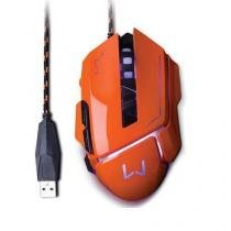 Mouse gamer warrior 3.200dpi usb laranja multilaser mo263 -