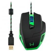 Mouse Gamer Warrior 3200DPI Macro LED Multilaser MO245 - Multilaser